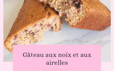 Gâteau aux noix et aux airelles