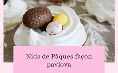 Nids de Pâques façon Pavlova